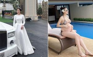 Danh sách gái xinh bất chấp bầu bí vừa gọi tên 'cô dâu 200 cây vàng': Bụng to vượt mặt diện bikini vẫn nuột quá trời
