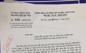 """Lạ lùng 2 văn bản """"hỏa tốc"""" dừng rồi lại tuyển giáo viên của Hà Nội"""
