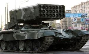 """Nga chuẩn bị đưa vũ khí """"vô nhân đạo"""" - pháo phản lực TOS-1 đến Syria?"""