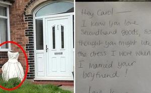 Phát hiện chồng ngoại tình với bạn thân, người vợ tức tốc mang váy cưới cũ đến nhà kẻ thứ 3 và để lại lời nhắn nhủ đầy sâu cay