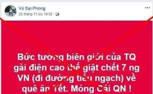 Quảng Ninh bác tin đồn 7 người Việt tử vong tại biên giới Việt-Trung