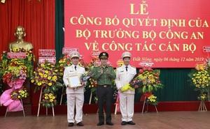 Trao quyết định bổ nhiệm Giám đốc Công an 2 tỉnh