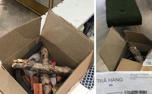 """Shop thời trang ở Sài Gòn """"đau đầu"""" vì thùng hàng bí ẩn: Lúc ship đi là 2 chiếc váy bạc triệu, khi bị trả về lại là 2 khúc củi khô!?"""