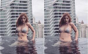 """Chỉnh ảnh lố quá đà còn mạnh miệng phủ nhận, hot girl bị """"cao thủ photoshop"""" khôi phục lại hình gốc khiến dân mạng choáng váng"""