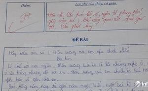 Rơi nước mắt với bài văn tả 'thần tượng' bác bảo vệ của học sinh lớp 7