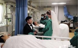 Đám cưới của đôi trẻ trong phòng điều trị đặc biệt, nhiều người cảm động