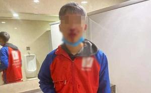 Nam shipper bị đánh bê bết máu ở mặt khi đứng giao hàng cho khách tại sảnh khu đô thị