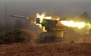 Tiếng rít của rocket BM-21 khiến phiến quân Syria bạt vía kinh hoàng bỏ chạy