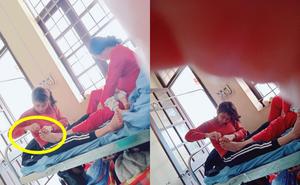 Con dâu cắt móng chân cho mẹ chồng trong viện - hình ảnh được chia sẻ nhiều nhất trong ngày Chủ Nhật