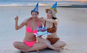 Kỳ Duyên mặc bikini gợi cảm, quấn quýt bên người tình tin đồn
