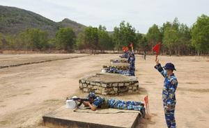 Hải đoàn 129 tổ chức Kiểm tra bắn đạn thật súng K54 và tiểu liên AK