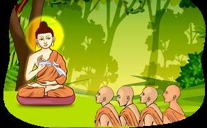 Cầm 1 chiếc khăn tay, Đức Phật dạy môn đồ bài học sâu sắc về cách ứng xử trong cuộc sống