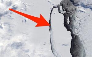 Tảng băng trôi lớn nhất thế giới bắt đầu nứt vỡ