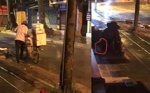Bất ngờ dừng xe, người đàn ông bán bánh bao có hành động  ấm lòng giữa đêm Hà Nội mưa gió