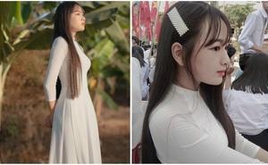 """Danh tính nữ sinh Đắk Nông gây """"sốt"""" khi diện áo dài trắng tới trường"""
