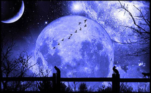 1001 thắc mắc: Hiện tượng 'trăng xanh' là gì, liệu có mang lại điềm báo tai họa?