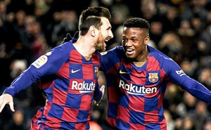"""Thần đồng ghi cú đúp """"xâu kim"""" giúp Barcelona bám sát đại kình địch Real, đồng thời lập nên kỷ lục mới tại La Liga"""