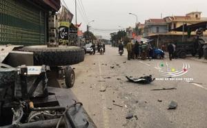 Ô tô va chạm với xe ba bánh, 3 người bị thương