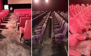 Hậu phong tỏa dịch bệnh, dân mạng tá hỏa khi thấy ghế trong rạp chiếu phim mốc xanh mốc đỏ, sàn nhà đóng kín bụi