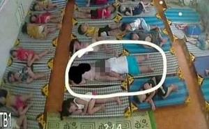 """Mở camera xem con ngủ trưa, phụ huynh Hải Phòng """"chết ngất"""" với cảnh tượng quá nhạy cảm, vội vàng nhắn tin nhắc nhở cô giáo"""