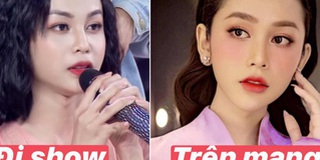 """Soi nhan sắc trên tivi vs ảnh đăng """"phây"""" của thí sinh hot nhất Hoa hậu Chuyển giới Việt Nam 2020"""