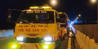 Xe khách bị chết máy trên cao tốc TP HCM – Long Thành – Dầu Giây, giao thông ùn ứ ngày đầu năm mới