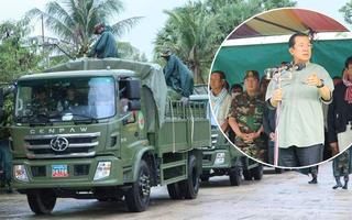 """Lô xe quân sự Trung Quốc """"ra quân"""" ở Campuchia: Ông Hun Sen hết lời ca ngợi, lần đầu hé lộ 1 thông tin"""