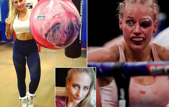 Nữ võ sĩ xinh đẹp bị đánh biến dạng mặt khi tham gia trận tranh đai thế giới