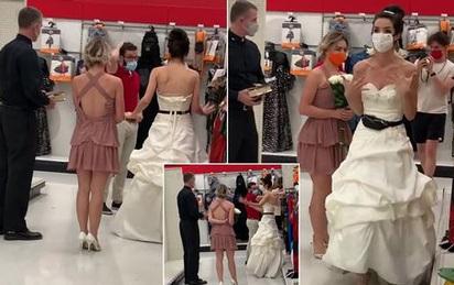 Cô gái mặc váy cưới truy đuổi hôn phu ở chỗ làm, chàng trai có pha xử lý bất ngờ và đoạn kết gây tò mò