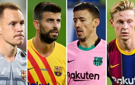 """Barca """"trói chân"""" 4 công thần sau trận thắng đậm Ferencvaros"""
