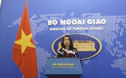 Việt Nam trả lời thông tin tàu hộ vệ tên lửa Quang Trung diễn tập ở Trường Sa
