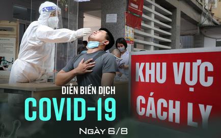 Sáng 6/8, Hà Nội thêm 21 ca dương tính SARS-CoV-2. TP HCM đề xuất dừng tiếp nhận cai nghiện ma túy