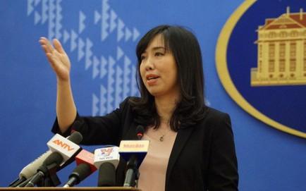 Người phát ngôn Bộ Ngoại giao trả lời về diễn biến gần đây ở Biển Đông