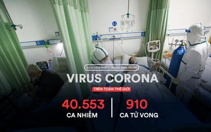 Virus corona: 910 ca tử vong trên toàn cầu, TP New York (Mỹ) có thể phải chi đến 1 triệu USD/ngày để ứng phó với NCP