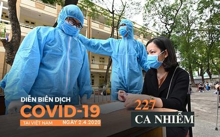 Dịch Covid-19 ngày 2/4: Hỏa tốc truy tìm lịch trình những người mắc Covid-19 của Công ty Trường Sinh; VN tăng lên 227 ca bệnh