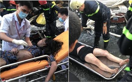 Giải cứu 7 người trong căn nhà bốc cháy ở Sài Gòn