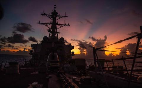 Tàu chiến Mỹ đi vào gần quần đảo Hoàng Sa