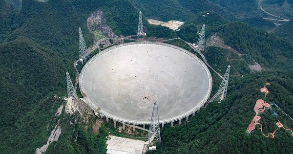 Cận cảnh kính viễn vọng Trung Quốc, tương đương 30 sân bóng đá
