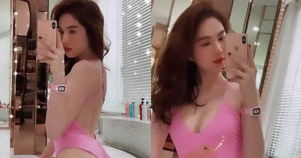 Ngọc Trinh diện bikini, quay clip gợi cảm giữa