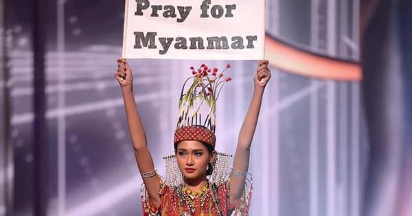Hoa hậu Hoàn vũ Myanmar bị truy nã sau khi