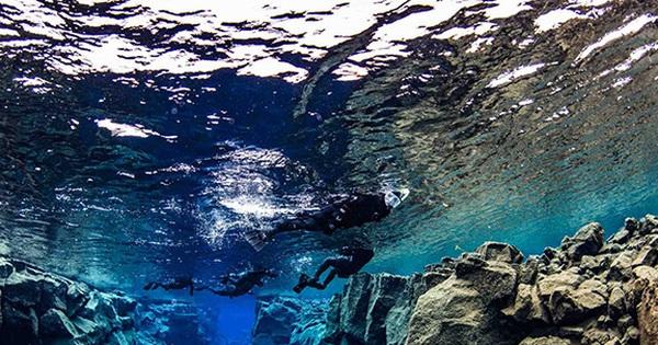 Khe nứt Silfra - nơi duy nhất trên Trái Đất có thể lặn chạm vào hai lục địa cùng lúc