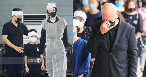 2 người chồng cũ của hoa hậu Thu Thủy bật khóc nghẹn ngào, con trai và con gái thất thần trong tang lễ mẹ