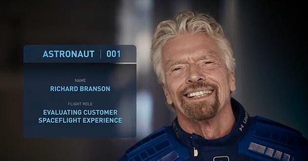Ngày 11/7, tỷ phú Anh du hành rìa không gian - Trước khi đi, ông nhắn gì cho tỷ phú giàu nhất thế giới Jeff Bezos?
