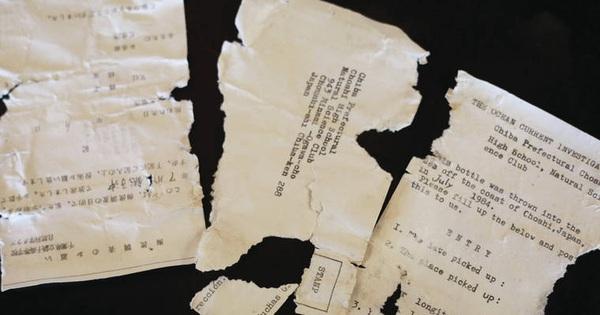 Tìm thấy lá thư trong chai trôi dạt từ Nhật Bản đến Mỹ
