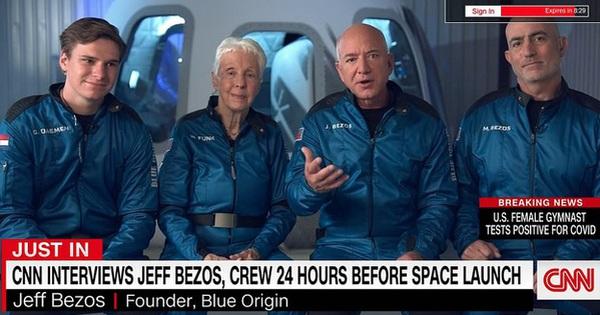 Jeff Bezos trả lời độc quyền CNN trước chuyến bay lên vũ trụ tối nay: