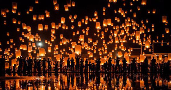 24h qua ảnh: Thái Lan rực rỡ trong lễ hội đèn lồng