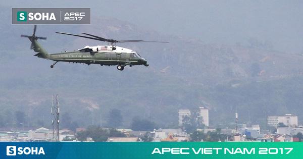 [NÓNG] Marine One của tổng thống Trump có màn bay thử ấn tượng trong sân bay Đà Nẵng