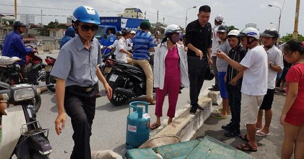 Hải Phòng: Một phụ nữ bỏ xe và bình ga, nhảy cầu An Dương tự tử
