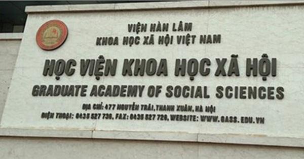 Học viện KHXH phản hồi về hàng loạt sai phạm đào tạo tiến sĩ, thạc sĩ