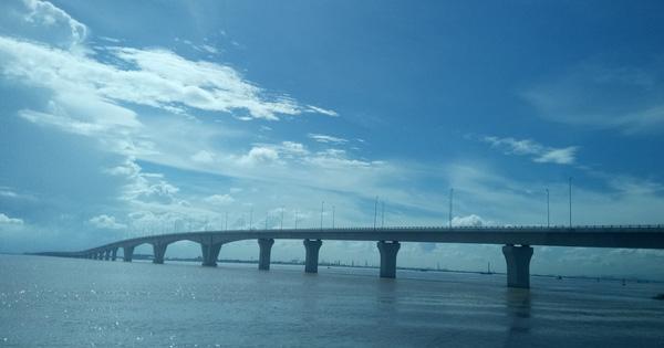 Thông xe cầu vượt biển dài nhất Việt Nam vào ngày Quốc khánh
